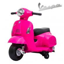Pink 6v Battery Operated Ride on Official kids Vespa Motorbike