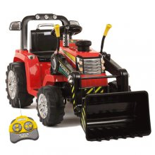 12v Battery Ride On Tractor With Loader Bucket & Remote Control