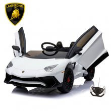 White Lamborghini SV 12v Aventador Kids Super Car
