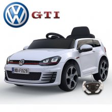 12v Licensed VW Golf GTi Ride On Car with Leather Seat
