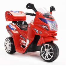 Kids 6v Red Touring Police Trike with Storage Box