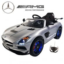Official 12v Silver Mercedes SLS AMG Ride On Car with EVA Tyres