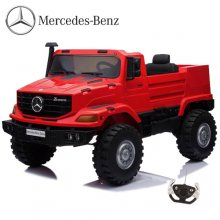 Red Two Seat 12v Mercedes Unimog EVA Tyre Kids Mega Jeep