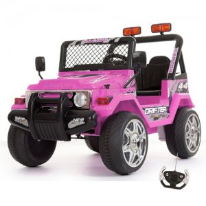 Pink 12v 2 Seater Ride On Off Road Style Jeep + Remote