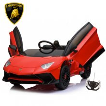 Red Licensed Lamborghini SVj 12v Aventador Kids Electric Car