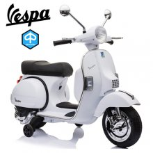 Licensed Piaggio Vespa Kids White 12v Ride On Electric Moped