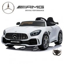 Mercedes GT R Large White 2 Seat 24v Battery Kids Car