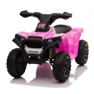 Pink 6v Micro Sit On Battery Powered Value Quad With Lights