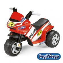 Peg Perego 6v Ducati Motorbike Kids Ride On Trike