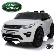 Kids 12v White Official Land Rover Discovery Jeep with Remote