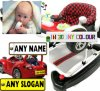 3D Child's Ride-on Car Private Number Plate Set