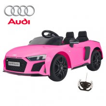 12V 2021 Upgraded Pink Audi R8 Sit In Supercar With Remote
