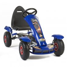 Kids Metal Pedal Racing Kart with Rubber Tyres