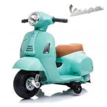Teal 6v Battery Operated Ride On Official Kids Vespa Moped