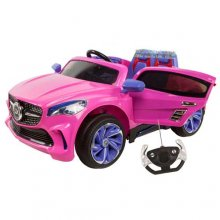 Mercedes Coupe Style Pink 12v Girls Ride On Car with Remote