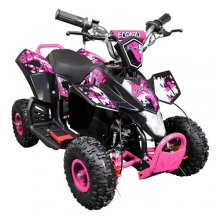 Pink 36v 800 Watt Kids Quality Compact Quad Bike