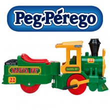 6v Peg Perego Toddlers Sit-on Battery Powered Santa Fe Train Set