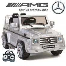 Official Silver Mercedes AMG G55 Luxury Kids 12v Jeep