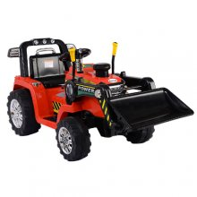 Kids 12v Electric Ride On Digger with Front Scoop