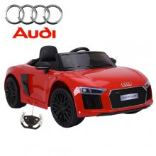 XL Wide Licensed Kids Red Audi R8 12v Ride On Car