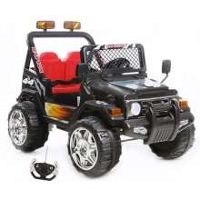 12v Black Two Seat Adventure Safari Jeep with Remote