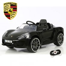 Licensed Black 6v Porsche 918 Kids Ride On Electric Car