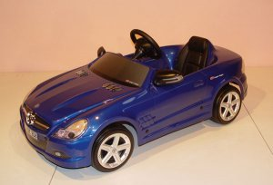 Blue 6v Mercedes SL Ride-On Battery Car