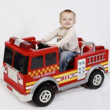 Kids 12v Electric Ride On Fire Engine Truck