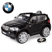Kids Official BMW X5 Black 12v Jeep with Leather Seat