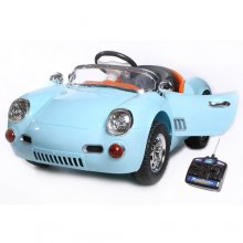Kids Vintage Porsche Carrera Style 12v Ride On Car