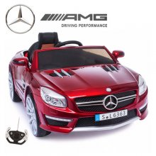 Kids 12v Metallic Red Official Mercedes SL63 Ride On Car