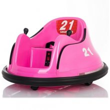 12v Pink 360 Spinning Girls Fair Ground Electric Bumper Cart