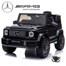 Licensed 12v 2021 Kids Black Mercedes G63 Ride On Electric Jeep