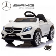 Kids 12v White Official Mercedes GLA45 Ride On Car with Remote