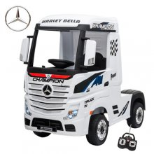 Licensed White Mercedes 12V Arctic Truck Ride in Lorry