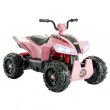 Kids Pink 12v Sports Ride On Suspension Quad Bike