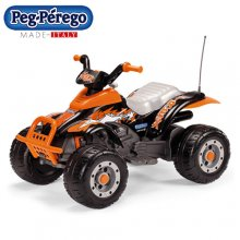 Peg Perego 12v Orange Fun Off Road Quad Bike