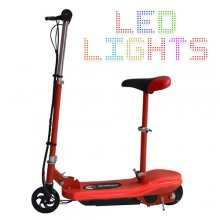 LED Light Strip Kids Electric 24v E Scooter + Removable Seat