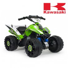 Injusa Kawasaki Kids 12v Electric Ride On Quad Bike