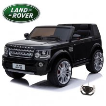 Official 2 Seater Kids Black 12v Land Rover Discovery Jeep