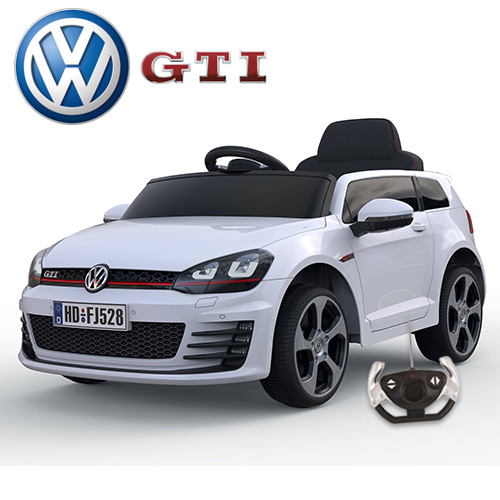 12v Licensed Vw Golf Gti Ride On Car With Leather Seat 163