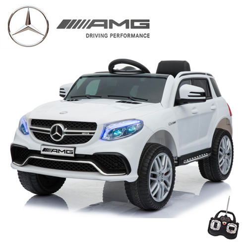 Official 12v Mercedes GLE63 Kids Ice White Ride On Jeep - Click Image to Close