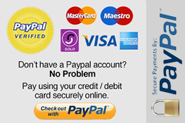 Paypal and Debit Cards Accepted