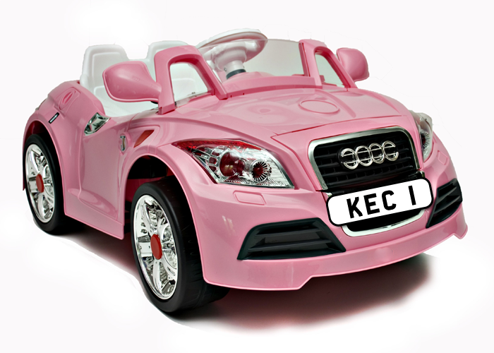 Childrens Pink Audi Electric Car