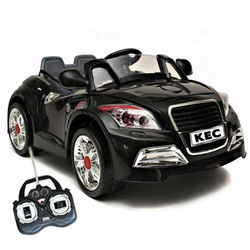 Black Audi TT Style Kids 6v Car with MP3
